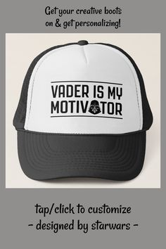 Vader Is My Motivator Trucker Hat #star #wars #darth #vader #TruckerHat