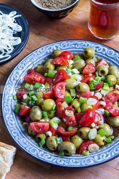 salade d'olives à la syrienne - vegan