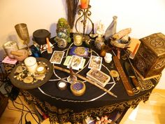 Samhain altar unitarian scottish new year Witch Alter, Illinois, Wiccan Altar, Love Spell Caster, Samhain Halloween, Altar Decorations, Sabbats, Gods And Goddesses, Book Of Shadows
