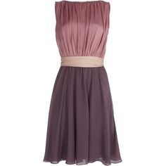 ESCADA Denise Dress (10.010 HRK) ❤ liked on Polyvore featuring dresses, vestidos, short dresses, платья, zipper dress, purple dress, mini dress and color block mini dress