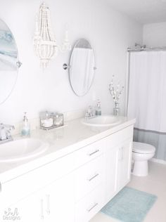 The bathroom is one of the most used rooms in your house. If your bathroom is drab, dingy, and outdated then it may be time for a remodel. Remodeling a bathroom can be an expensive propositi… Bathroom Wall Decor, Bathroom Interior, Home Interior, Bathroom Ideas, Bathroom Inspo, Interior Design, Bathroom Tray, Bathroom Pictures, Bathroom Curtains