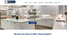 This is a new for a long time client. He is a Master Electrician in Gaithersburg, MD Responsive Web, Kitchen Cabinets, Design, Home Decor, Decoration Home, Room Decor, Cabinets, Home Interior Design