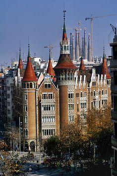 Flickr ! La Casa de les Punxes. Barcelona, Catalonia
