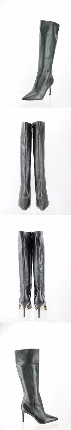 Women Boots: Women S Via Spiga Carmina Black Leather Knee High Boots Shoes Size 11 M New -> BUY IT NOW ONLY: $74.99 on eBay!