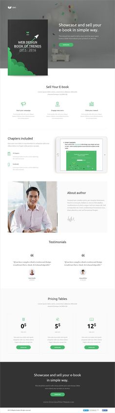 Ebo is clean and modern design responsive #Adobe #muse template for professional #ebook #marketing landing page website download now..
