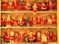 Great collection of vintage Santas  Photo via Web