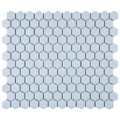 @Overstock - Reminiscent of Victorian-era tile mosaics, this Somertile tile set features a smooth, matte finish for a clean, stylish look perfect for any setting. These tiles are impervious, making them suitable for both indoor and outdoor use.http://www.overstock.com/Home-Garden/SomerTile-10.25x11.75-in-Victorian-Hex-Blue-Porcelain-Mosaic-Tiles-Pack-of-10/7583037/product.html?CID=214117 $72.99