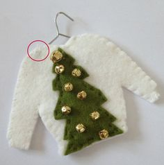 Ugly Sweater Felt Christmas Ornaments - Hipster Week