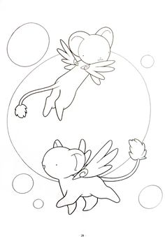 Coloring and Activity Sheets — Cardcaptor Sakura coloring pages Coloring Pages For Girls, Colouring Pages, Coloring Books, Kero Sakura, Cardcaptor Sakura, Black And White Art Drawing, Digimon, Anime Lineart, Kawaii Tattoo
