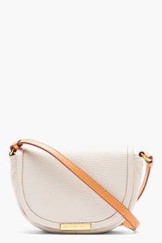 Marc By Marc Jacobs Light Beige Softy Saddle Crossbody Bag