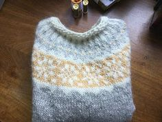 Adapted the Sigur pattern which is designed for boys, by using moss stitch on the bands rather than rib and white moss on the neck for a more femini. Icelandic Sweaters, Gifts For My Sister, Moss Stitch, Knitting Patterns, Sweater Patterns, Fair Isle Knitting, Winter Warmers, Pullover, Crochet Projects