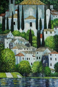 Church in Cassone by Gustav #Klimt  More about #art: http://sammler.com/art/ Mehr über #Kunst: http://sammler.com/kunst/