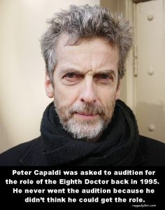 Peter Capaldi Didn't Think He Could Be Doctor Who Eighth Doctor, All Doctor Who, 12th Doctor, Twelfth Doctor, Capaldi Doctor Who, Don't Blink, Peter Capaldi, Torchwood, David Tennant