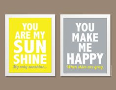 You Are My Sunshine Print (Set of 2 Prints) - 8x10