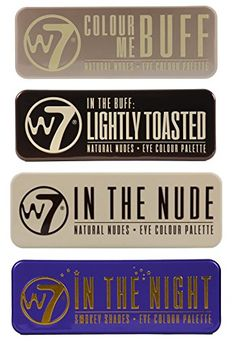 W7's Ultimate Eyeshadow Collection with Natural Nudes and Smokey Shades - Four Gorgeous, 12-in-1 palette sets: Colour Me Buff   In The Nude   In The Night   Lightly Toasted * You can get more details by clicking on the image.