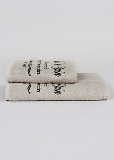 French Text Towels - Matalan