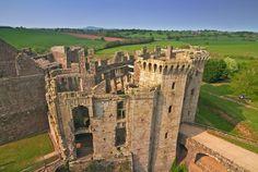 Raglan Castle near Abergavenny.