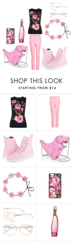"""rose"" by muneca-moorehead on Polyvore featuring Dolce&Gabbana, Topshop, Dr. Martens, Kate Spade, Derek Lam and Donna Karan"