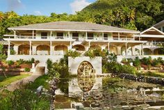 The Great House, colonial-style architecture at Sugar Beach, a Viceroy Hotel in St. Lucia. #Caribbean