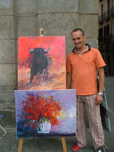 I bought the bull painting and a few others as well. Bull Painting, Spain Travel, Inspire, Artists, Inspiration, Biblical Inspiration, Spain Destinations, Inhalation, Artist