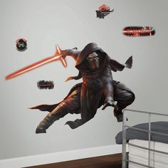 Star Wars Ep VII Kylo Ren P and S Giant Wall Decal | Wayfair.ca