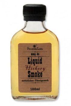 Feuer & Glas Liquid Smoke - natural liquid smoke Bbq, Design3000, Liquid Smoke, Spice Blends, Spices, Perfume Bottles, Food, Smoking, Fire