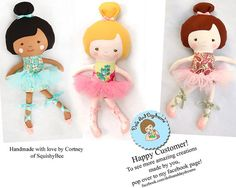 Ballerina Cloth Doll Sewing PDF Pattern Ballet Dancer Doll Clothes Tutu and Ballet Slippers included