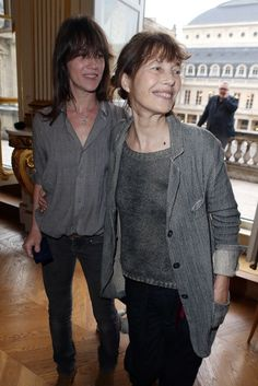 charlotte gainsbourg and her mother jane birkin. what a family!