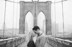 NYC Brooklyn Bridge engagement photo... thats our song! haha nothing compares to dancing with you on the brooklyn bridge :)