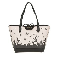 Patrizia Pepe Tasche - Reversible Butterfly Print Shopping Bag Rose/Black - in rosa, schwarz - Umhängetasche für Damen - http://td.oo34.net/cl/?aaid=6RcHqHX04vXl5LbB&ein=9ygpv2n1bemtujo8&paid=eg6pw0wqc6we326o