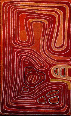 Anatjari No. I Tjampitjinpa - Snake Dreaming at Yunkurraya 1983  152 x 92 cm