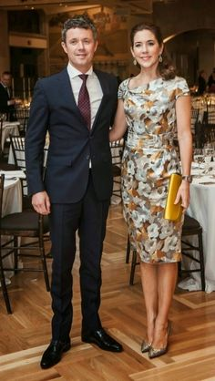 Crown Prince Frederik and Crown Princess Mary attended a dinner at the Royal Ontario Museum in honour of the royal couple's visit
