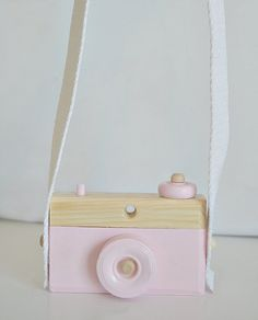 Toy Camera w/Strap Wooden Baby Toy Pastel Toy by FawnOverBaby