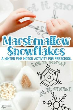 A Winter Fine Motor Activity for Preschool - just print a snowflake template and let your child create winter snowflake designs. A great STEAM and fine motor activity for the winter season | STEAM | STEM | Fine Motor Skills | Winter | Snow | Snowflakes |