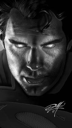 Portrait of Henry Cavill as Superman in Batman vs Superman