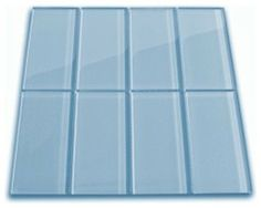 Sky Blue Glass Subway Tile modern tile