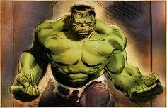 Illustration of the Incredible Hulk by Lee Weeks