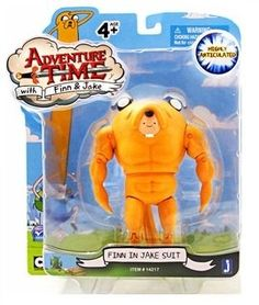 Amazon.com: Adventure Time 5 Inch Action Figure Finn in Jake Suit: Toys & Games