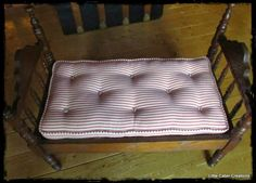 """MAKE DO DOLLS"": Tutorial-How To Make A Tufted Doll Bed Mattress With Piping"