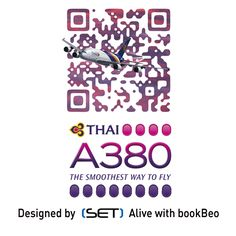 QR Code bookBeo designé par SET pour la compagnie THAI Airways Thai Airways, Qr Codes, Coding, Design, Design Comics, Programming