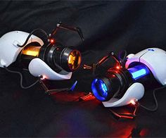 The technology to create portals may not exist yet, but in the mean time you can use your imagination to relive all those fun puzzles with these incredibly detailed replica portal guns. These 1:1 scale replica guns have blue and orange LEDs, and trigger firing sounds.
