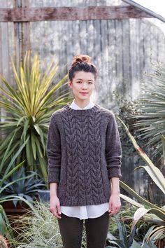 Пуловер реглан с косами от Yoko Hatta из Wool People 10.