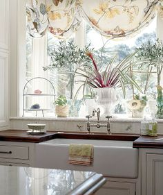 Traditional / window , I always say add plants and here are some . Make such a difference in a room. Perfect.