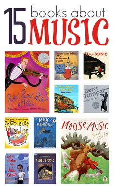 Picture books about music and instruments for kids.
