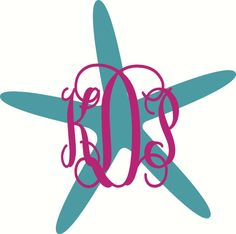 Personalized Starfish Vine Monogram Car by PacificBeachBoutique, $9.00