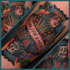 Samuele Briganti card tattoo king
