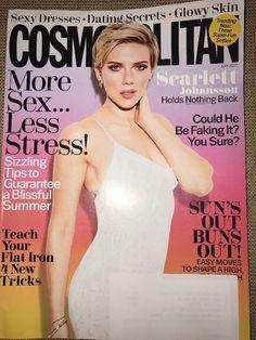COSMOPOLITAN MAGAZINE July 2017 Scarlett Johansson BLISSFUL SUMMER Flat Iron  | eBay