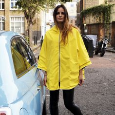 Otto London Poncho In Yellow | Cyclechic