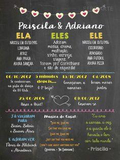 Chalkboard Namorados A3 Moldura C Vidro  Chalkboard personalizado a partir de R$45,00! em www.elo7.com.br/ Casamento, chá de bebê, namorados, noivado, infantil decoração e muito mais!