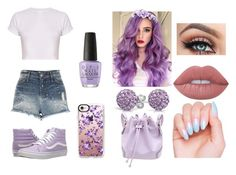 Lavender  by undeadgoddess on Polyvore featuring polyvore, River Island, Vans, Bling Jewelry, Casetify, Forever 21, Lime Crime, OPI, fashion, style and clothing